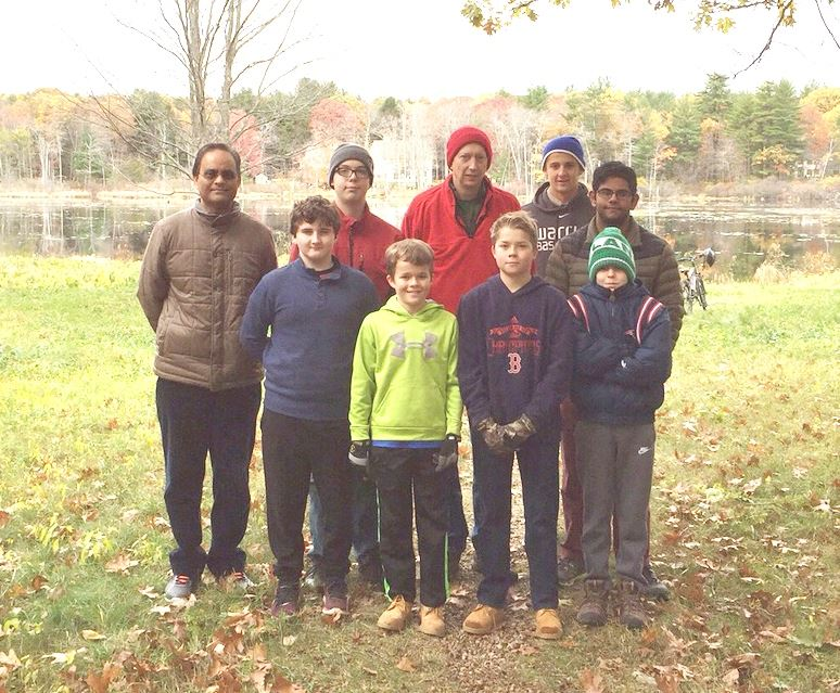 Boy Scout Ice Pond Group