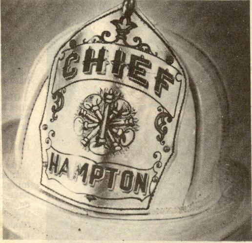 Hampton Fire Chief Helmet Sketch